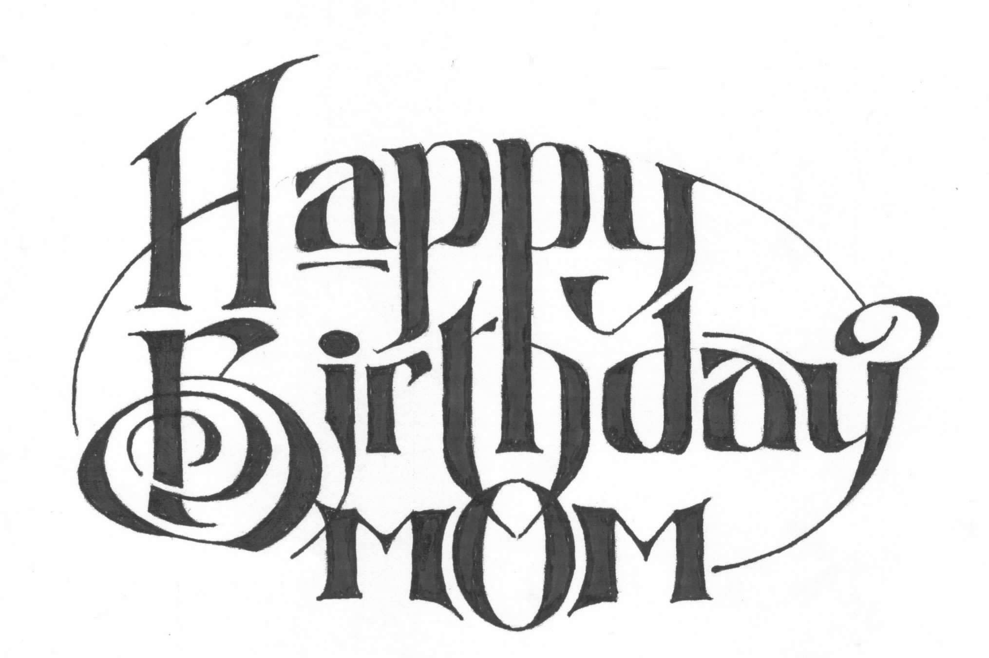 Happy Birthday Mom 2000 Artwork