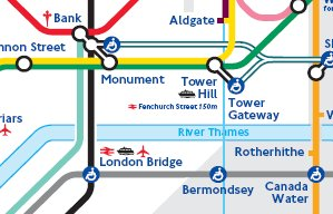 London Tube map snippet